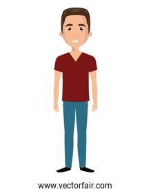 Young male cartoon design, vector illustration.