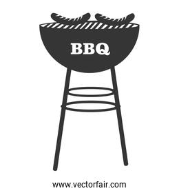 BBq grill theme design icon, vector illustration.