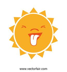 Sun funny cartoon graphic design.