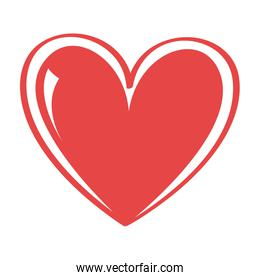 Love and feelings graphic design, vector illustration