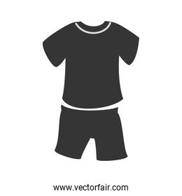 Sport wear isolated flat icon, vector illustration