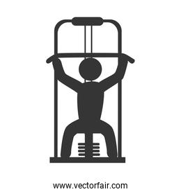 Gym and fitness lifestyle, vector illustration graphic.