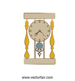 Time and clock line icon design, vector illustration.