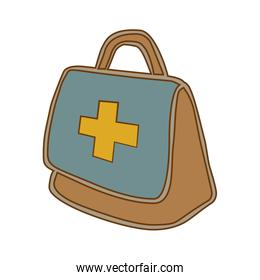 Medical emergency first aids kit or suitcase.