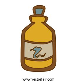 Medical snake poison bottle icon, vector illustration.