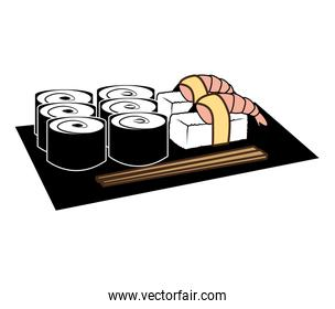 Seafood and gastronomy theme design, vector illustration.