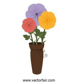 bouquet of flowers icon vector illustration