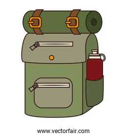 Camping backpack sleeping icon vector illustration design