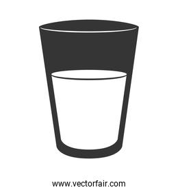 cup glass water isolated