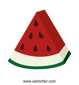Delicious and fresh watermelon fruit, vector illustration.