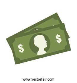 Money and investment isolated flat icon, vector illustration.