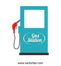 gas station industry icon vector illustration