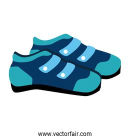 cyclist shoes wear icon vector illustration