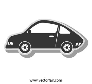 car vehicle transport icon vector illustration
