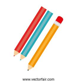 pencil colors school isolated
