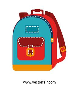 backpack bag school isolated