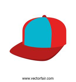 cap red and blue sport isolated
