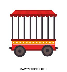 cage tent wheels icon vector illustration