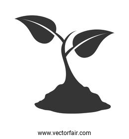 plant nature ecology icon vector illustration