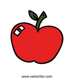 Delicious and fresh fruit, vector illustration.