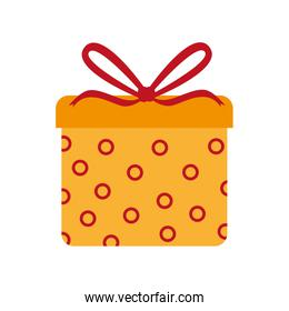gift box ribbon icon vector illustration