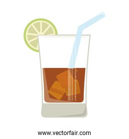 whisky cold glass icon vector illustration