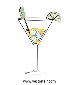 cocktail drink liquor isolated design