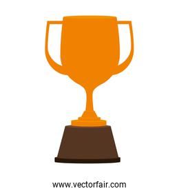 trophy win competition game over white