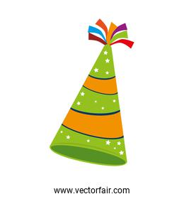 hat birthday fun color isolated