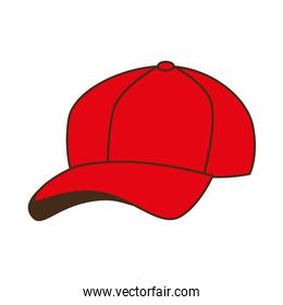 cap red baseball isolated