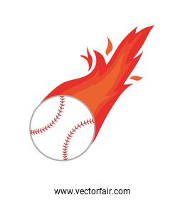 ball fire baseball icon isolated