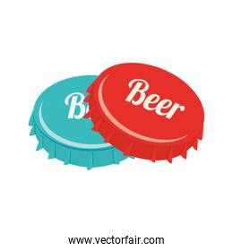 icon caps beer drink liquid isolated