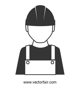 builder construction worker icon vector graphic