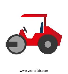 steamroller truck construction icon vector graphic