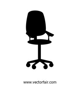 chair office furniture front  icon vector graphic