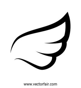 wing angel fly heaven icon vector graphic