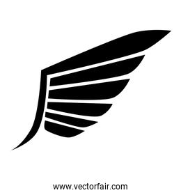 wing modern stripes icon vector graphic