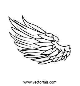 wing freedom symbol icon vector graphic