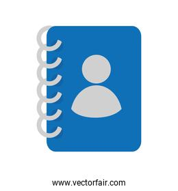 contacts book phones notebook icon vector graphic