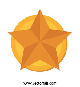 star gold medal winner vector graphic