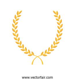 laurel gold frame icon vector graphic