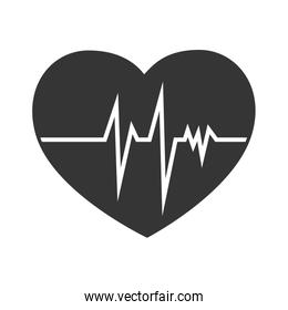 heart cardiology line icon vector graphic
