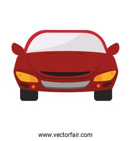 car auto front icon vector graphic
