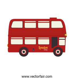 london bus uk icon vector graphic