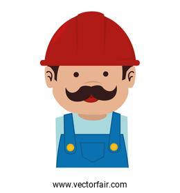 man helmet service mustache icon vector graphic