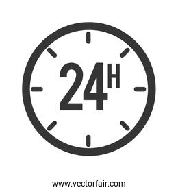 24 hours service icon vector graphic