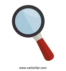 lupe magnifying glass icon vector graphic
