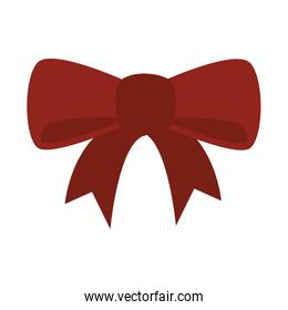 ribbon gift decoration icon vector graphic