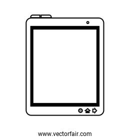 tablet device screen technology electronic icon vector graphic