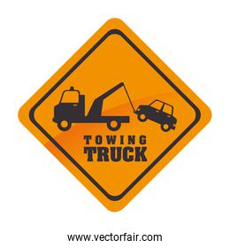 towing truck symbol icon vector graphic